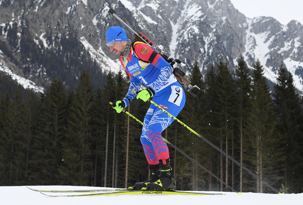 Александр Логинов в индивидуальной гонке