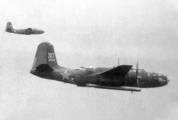 Советские А20 в стандартной тактической паре — торпедоносец (на переднем плане) и топмачтовик