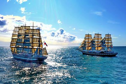 Российский барк «Крузенштерн» победил в гонке по Южной Атлантике