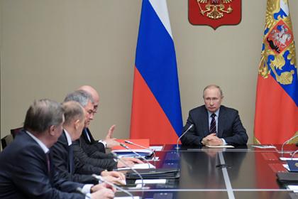 Путин перед разговором с Эрдоганом созвал Совет безопасности