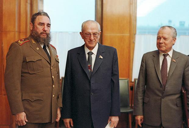 Встреча Юрия Андропова с Фиделем Кастро, 1982 год