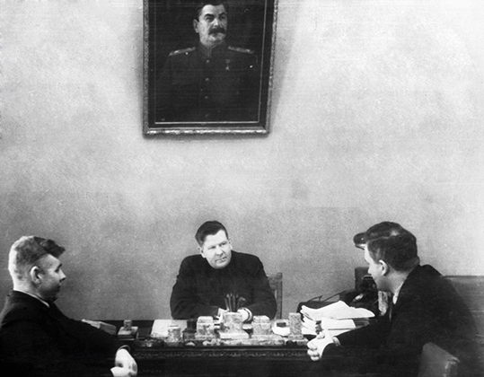 Руководители подпольного движения в Карелии во время Великой Отечественной войны. Юрий Андропов — крайний справа