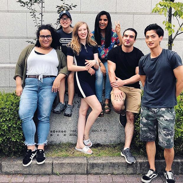 Алексей с однокурсниками, второй справа