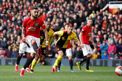 Гол новичка помог «Манчестер Юнайтед» выиграть второй матч подряд в АПЛ
