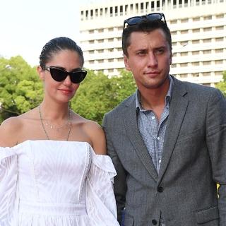 Павел Прилучный и Агата Муцениеце