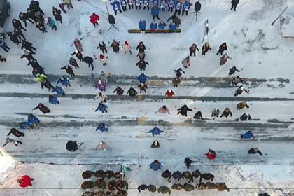 На Ямале устроили флешмоб для ветерана Великой Отечественной к 23 февраля