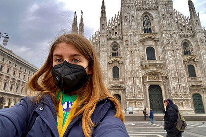Россиянка рассказала о пустых улицах и магазинах в Милане из-за коронавируса