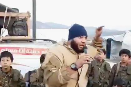 Террорист приехал в Сирию и призвал детей к джихаду