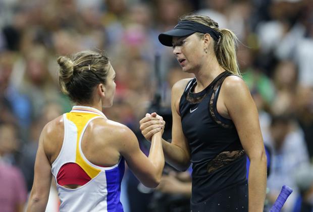 US Open-2017. Мария Шарапова и Симона Халеп