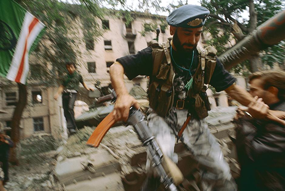 Боевые действия в центре Грозного, август 1996