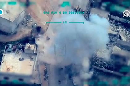 Появилось видео массированного удара Турции по Сирии