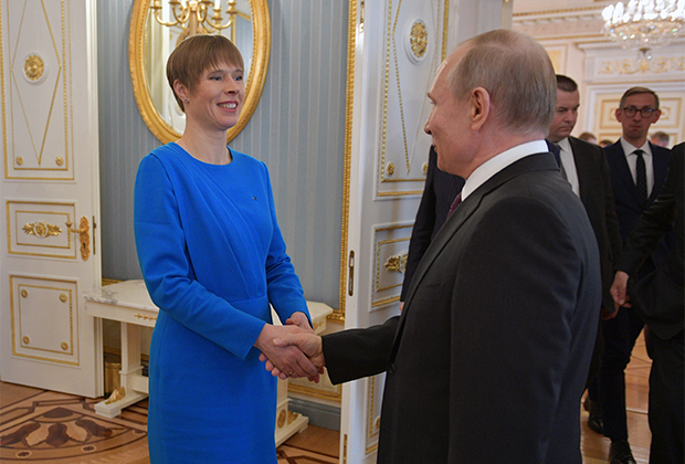 Президент РФ Владимир Путин и президент Эстонии Керсти Кальюлайд