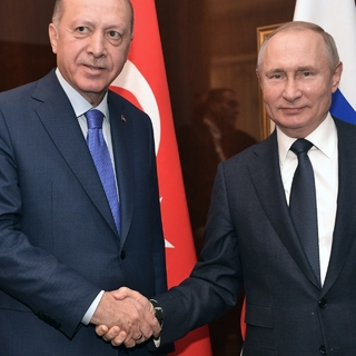 Владимир Путин и Реджеп Тайип Эрдоган (слева)