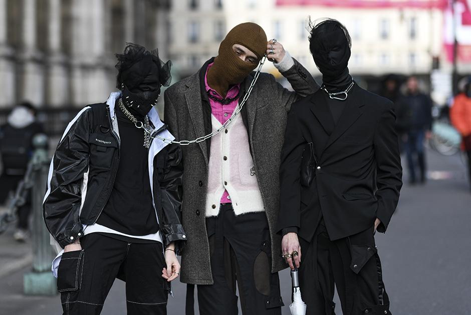 Посетители Недели моды в Париже