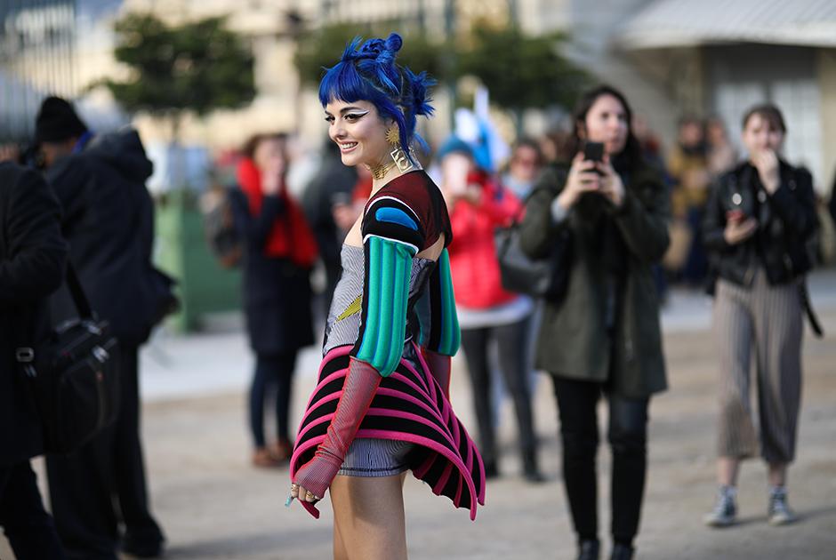 Сита Абеллан на Неделе моды в Париже