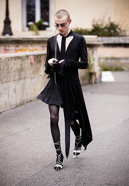 Гость модного показа бренда Mugler