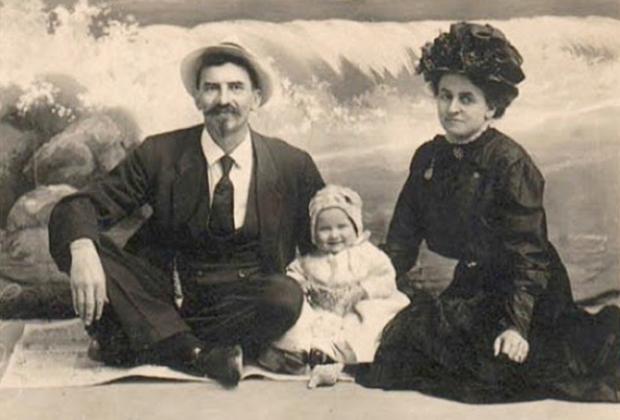 Мод и Гус с дочерью Лоттевой