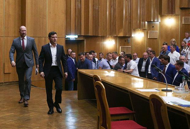 Денис Шмыгаль и Владимир Зеленский