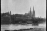 Вид на город со стороны реки. Австрия в составе Третьего рейха после аншлюса в 1938 году.