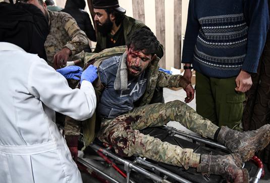 Раненый в ходе сражения с правительственной армией протурецкий боевик