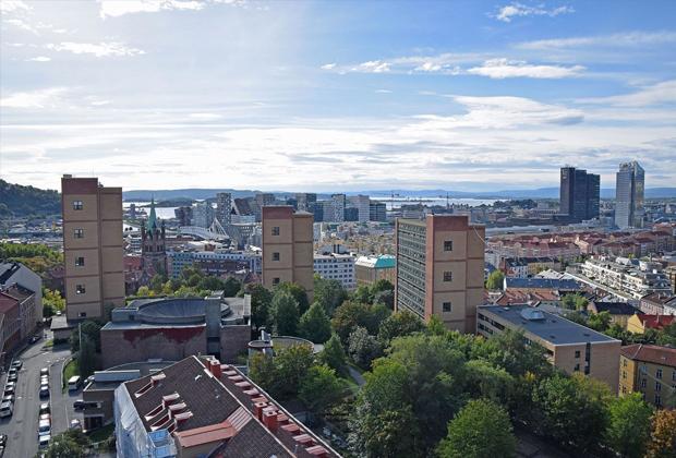 Вид на Осло, столицу Норвегии