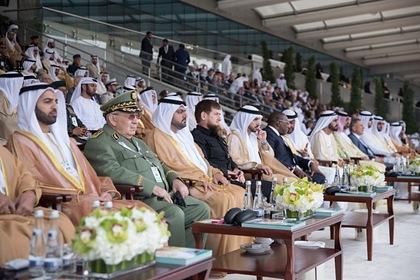 Рамзан Кадыров на оборонной выставке в ОАЭ, февраль 2019 года