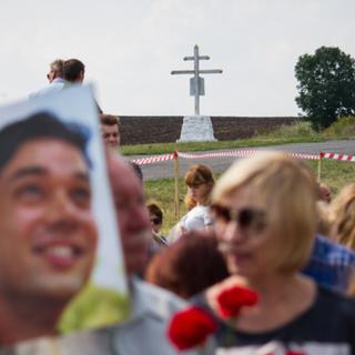 Мемориал на месте падения самолета
