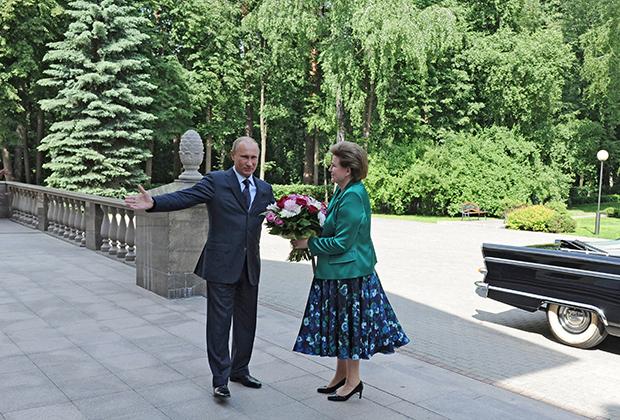 Валентина Терешкова и Владимир Путин, 2013 год