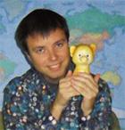 Главный редактор журнала «Батрахоспермум» Виктор Ковылин и его заместитель резиновый песик Чив Выговорка