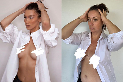 Блогерша спародировала обнаженное фото самой красивой женщины в мире