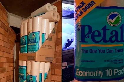 Мужчина разобрал кладовку на карантине и нашел сотни рулонов туалетной бумаги