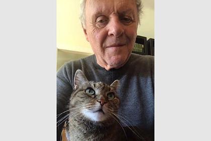 Изолировавшийся Энтони Хопкинс сыграл на пианино с котом и покорил интернет