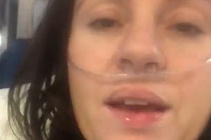 Заразившаяся коронавирусом женщина записала пугающее видео из реанимации