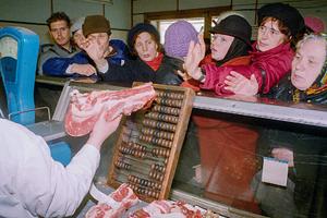 Очередь за мясом в Москве, 1991