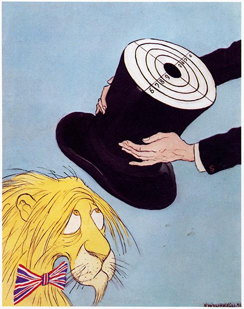 «Американский подарок британскому льву». Карикатура творческого коллектива «Кукрыниксы»