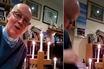 Священник загорелся во время проведенной из-за коронавируса онлайн-службы