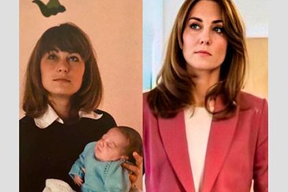 Фанатов поразил архивный снимок матери Кейт Миддлтон