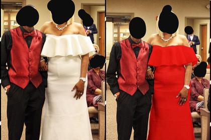 Свекровь попыталась перещеголять невесту в белом платье и была обругана