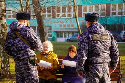 Росгвардия проверила на улицах Москвы пожилых людей в связи с коронавирусом