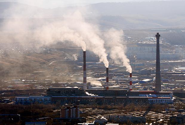 Красноярская ТЭЦ №1 на окраине Красноярска