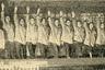 Коллектив театра Санпросвета Мосздрава в финальной сцене живой газеты «Красный цветок».