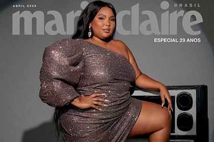 Бодипозитивная певица снялась для обложки журнала в платье с высоким вырезом