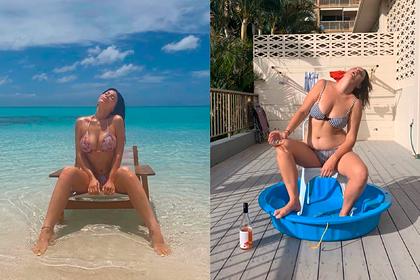 Блогерша спародировала фото в бикини самой молодой миллиардерши в мире
