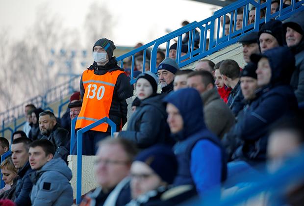 Футбольный матч в Жодино, Минская область, 27 марта