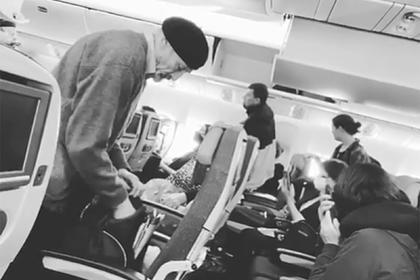 Скандал на борту внезапно отмененного рейса из Москвы в США попал на видео