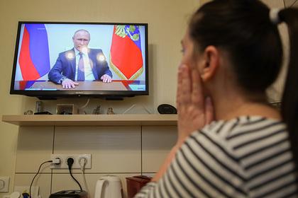 Рейтинг Путина вырос после обращения к нации
