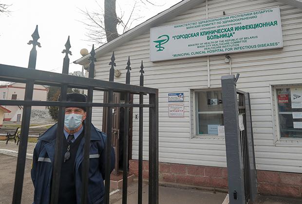 Вход в больницу в Минске, 28 февраля