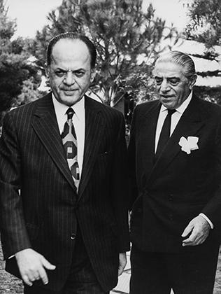 Георгиос Пападопулос и миллиардер Аристотель Онассис, 1975 год