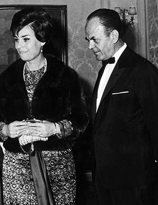 Георгиос Пападопулос с женой Деспиной Гаспари, 1967 год