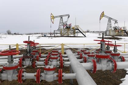 Цена нефти упала